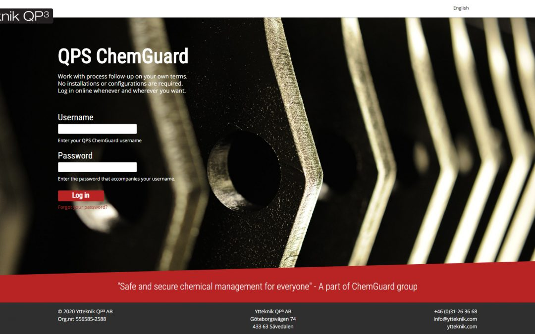 Ny design på QPS ChemGuard!